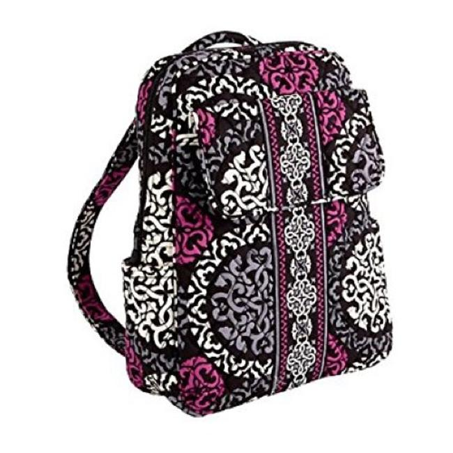Item - Canterberry Magenta Medium School Travel Black Pink White Backpack