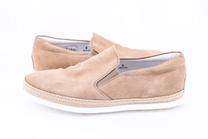 Tod's * Tan Suede Espadrille Slip-on Sneaker Shoes