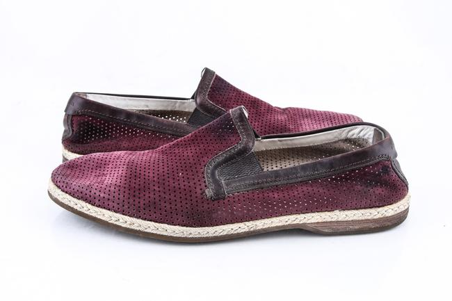 Item - * Burgundy Espadrilles In Perforated Suede Shoes