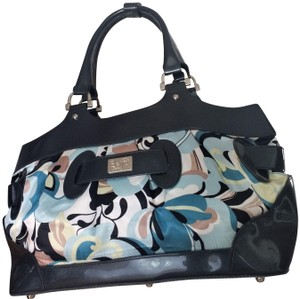 Beijo Luxury Purse Designer Handbag Tote in Silk and Patent Leather