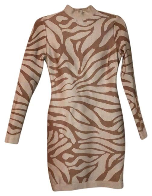 Item - White Brown Tan Taupe Beige Nude Dillard's Short Night Out Dress Size 6 (S)