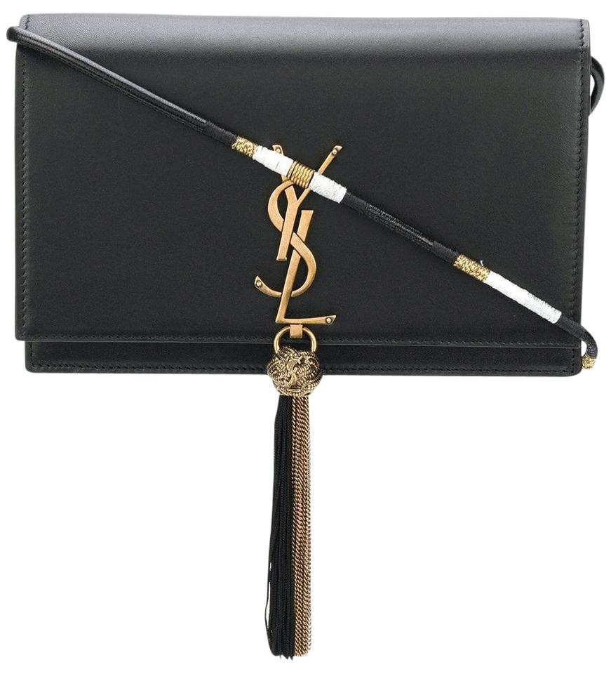 ba034d152204 Saint Laurent Monogram Kate Tassel Wallet Black Calfskin Leather Shoulder  Bag