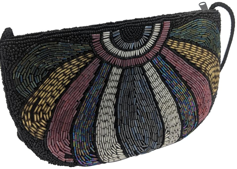 51f35dd2873cf Beaded Evening Black Multi Clutch - Tradesy