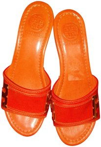 Tory Burch Orange n gold Mules