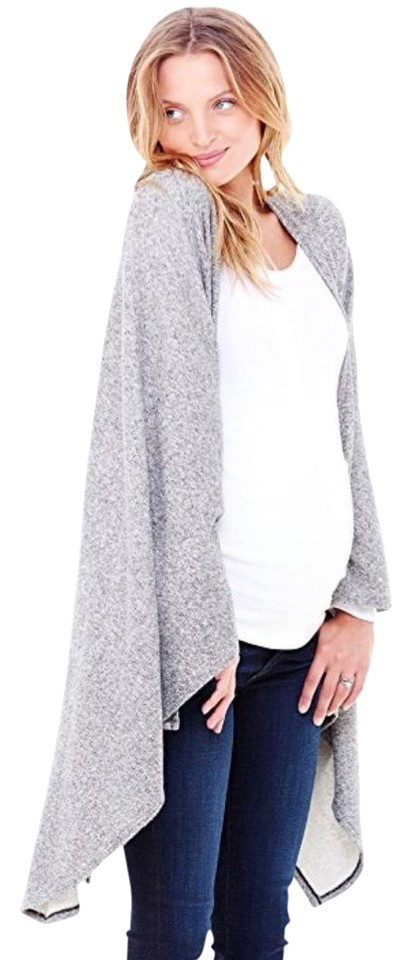 169c9fb8e47 Ingrid & Isabel Heather Gray Cozy Wrap Sweater Maternity Outerwear Size OS  (one size) 63% off retail