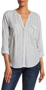 Joie Vince Theory Rails Paige Button Down Shirt white gray