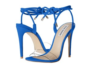 Steve Madden Heels Ankle Strap Stiletto Sandals Blue Pumps