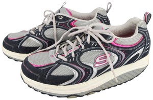 Skechers Gray, Pink Athletic