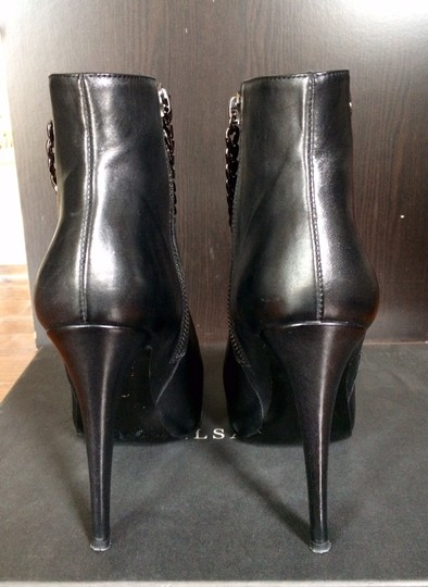 AllSaints Leather Ankleboots Chain Black Boots