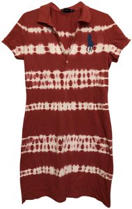 Polo Sport short dress Burnt red, white on Tradesy