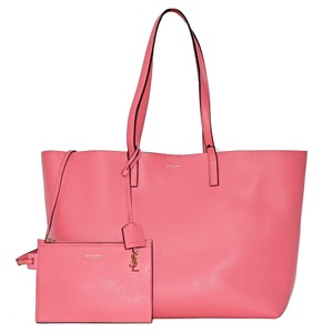 Saint Laurent Tote in Red-Coral