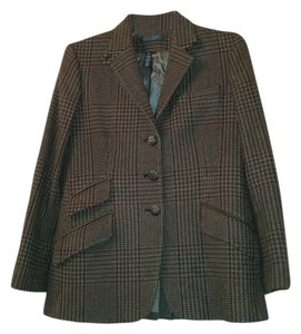 Lauren by Ralph Lauren Virgin Wool brown rust rouge caramel Blazer