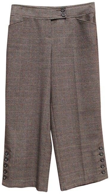 Item - Brown Nwot Glen Plaid Gaucho Pants Size 4 (S, 27)