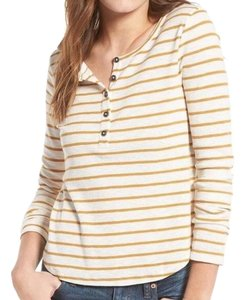 Madewell Striped T Shirt yellow