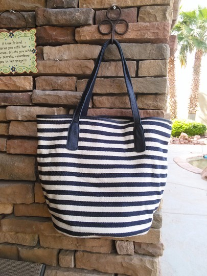 massi Tote in navy/white stripe