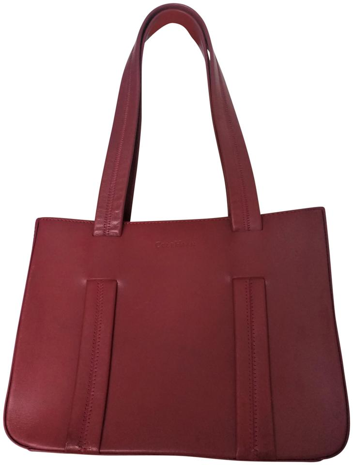 f244401a1e Cole Haan Red Leather Leather Designer Tote in Classic Tote Image 0 ...
