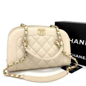 Chanel New New Leather Lambskin Cc Logo Shoulder Bag