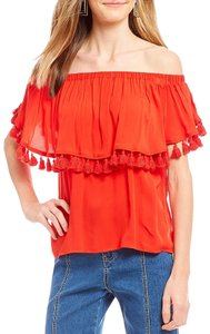 Gianni Bini Off Shoulder Shortsleeve Top Red