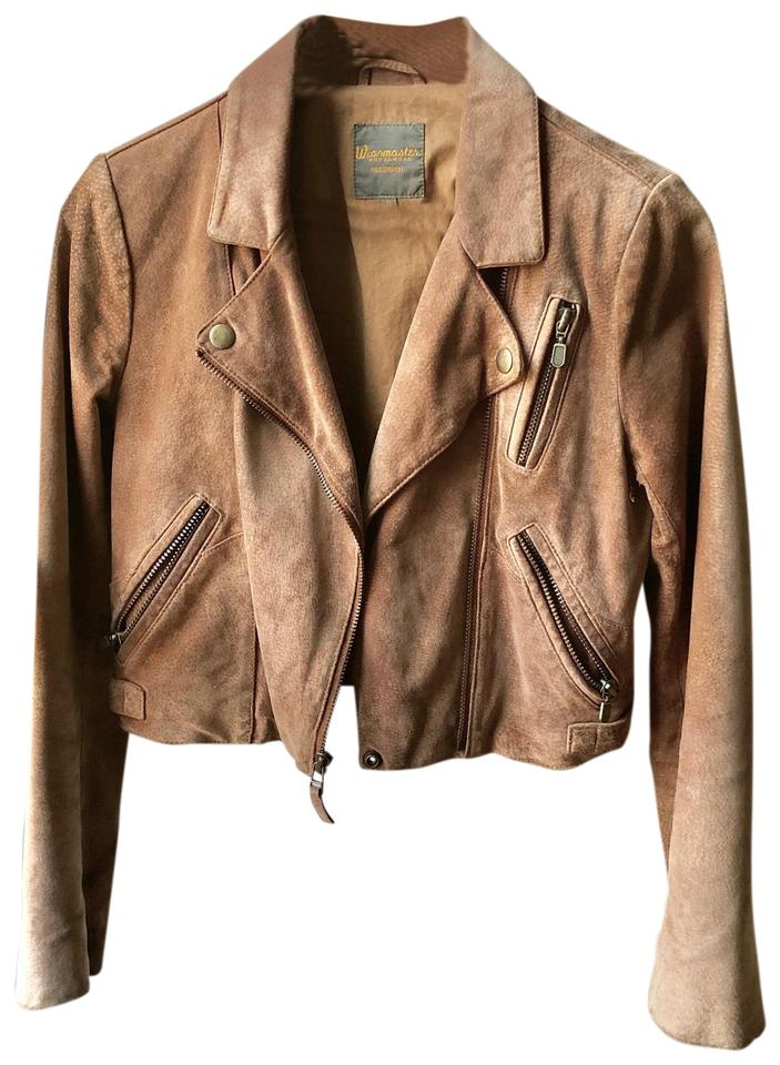 39cf365fedc Madewell Camel   Tan Cropped Suede Leather Jacket Size 4 (S) - Tradesy