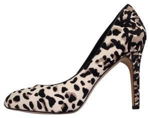 White House | Black Market High Heels Snow Closed Toe Leopard Pumps