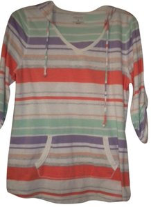 Sonoma Striped 3/4 Sleeve T Shirt Multi-Color