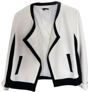 Ann Taylor white with black pipping Jacket