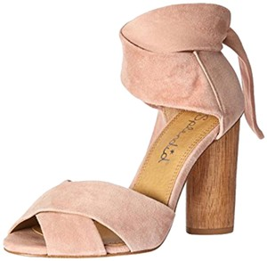 Splendid Suede Blockheel Blush Sandals
