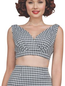 Stop Staring! black and white Halter Top