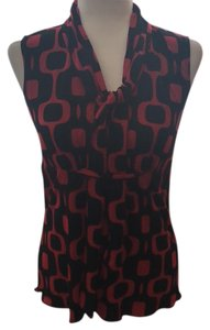 Cocomo Top Red and Black Print