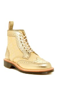 Dr. Martens Limited Edition Leather Lace Up Made In England Silk Golden Boots