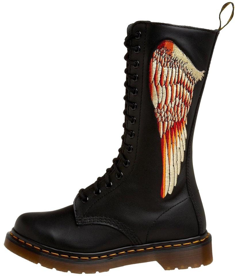 5808947d09d8 Dr. Martens Black 1b99 Celeste Angel Wings Smooth Boots Booties Size ...