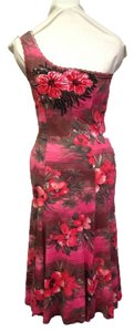 Blumarine One Shoulder Hawaiian Hawaiian Print Dress