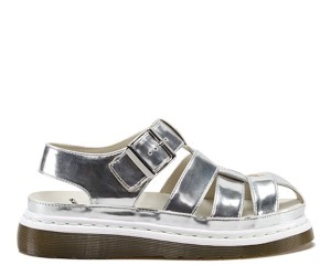 Dr. Martens Leather Limited Edition Silver Sandals