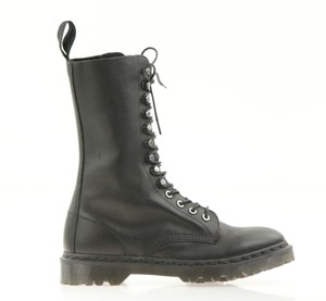 Dr. Martens Leather Lace Up Zip Black Boots