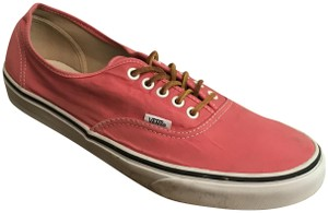 Vans Cotton Rubber Leather Red Athletic
