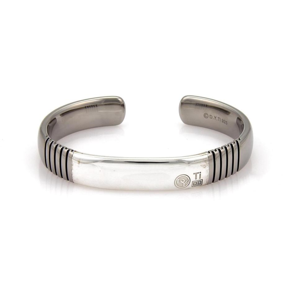 David Yurman 925 Silver Anium Broken Ridge Cuff Bracelet