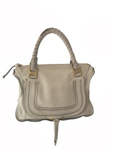 Chloé Leather Tote Buttery Satchel in Grey