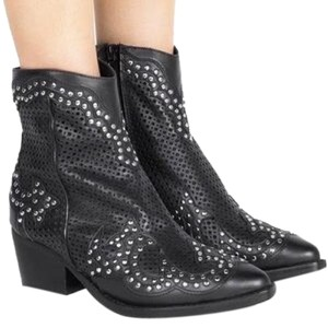 Jeffrey Campbell Nasty Gal Paxton Leather black Boots