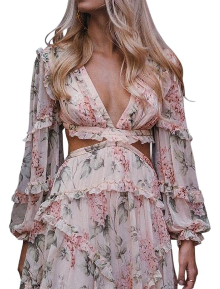 ZIMMERMANN Cream Prima Floating Cut Out Short Cocktail Dress Size 2 (XS)  50% off retail