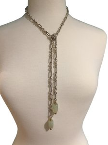 "David Yurman David Yurman 36"" Figaro Sterling Chalcedony Green 18K Gold Necklace"