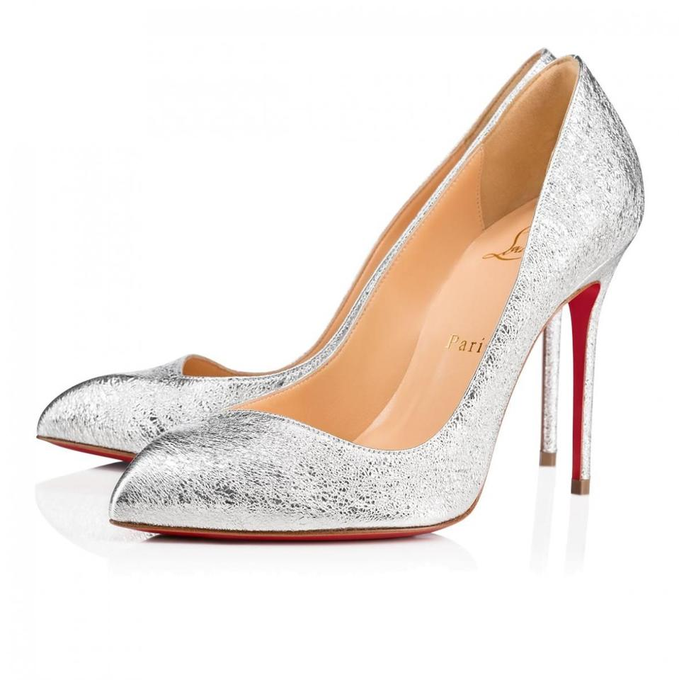 0d1e8c7a0b5 Christian Louboutin Pigalle Stiletto Classic Corneille Leather silver Pumps  Image 0 ...