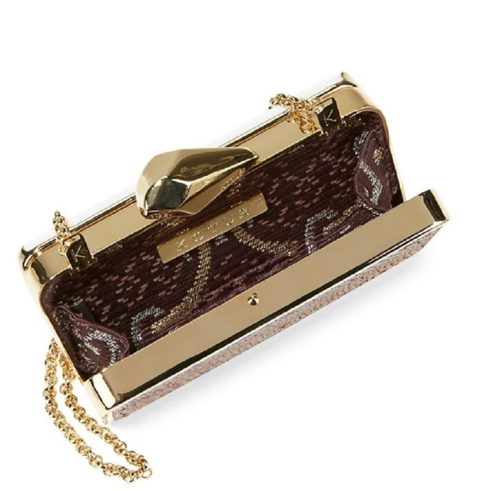 Clutch Smart Kotur Snakeskin Evening Metal Minaudiere nafrW4f