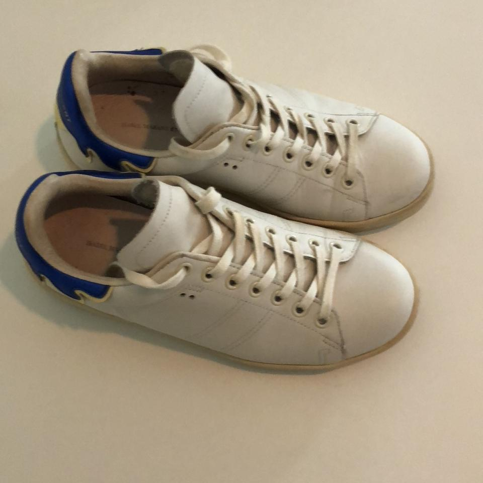 White Blue Sneakers