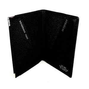 Smythson Smythson Mara Leather Passport Cover with Sterling Silver Tipped Edges