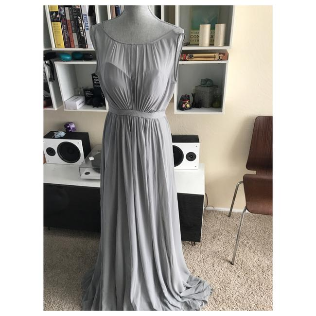 Item - Dove Gray Vivienne Luxe Chiffon Gown Feminine Bridesmaid/Mob Dress Size 0 (XS)