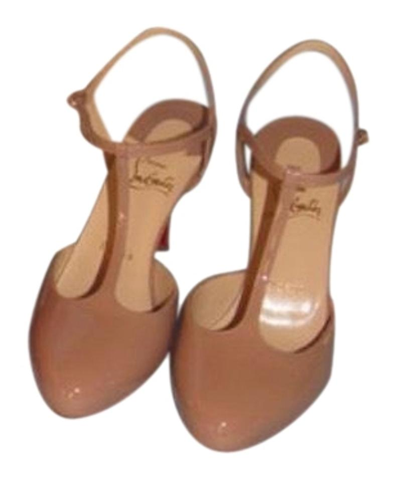 a7c93681578d Christian Louboutin Nude New with Tags New Me Pam 85 Patent Leather ...