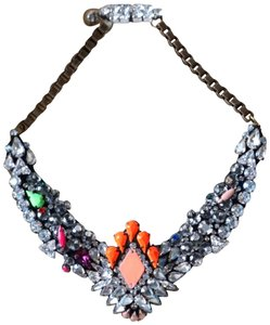 Shourouk Swarovski Crystal Bib Statement Necklace