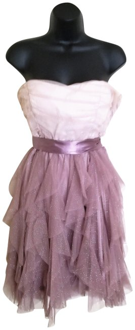 Item - Champagne Pink and Cream In Your Dreams Blush Rose Romantic Short Casual Dress Size 10 (M)