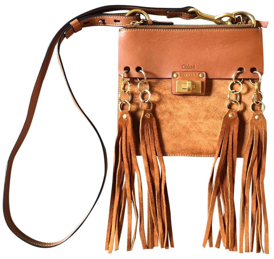 521b1194fa Chloé Jane Brown Leather   Suede Cross Body Bag - Tradesy