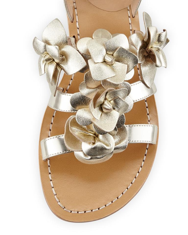 86dad6e2780625 Tory Burch Gold Spark Blossom Gladiator Sandals Size US 6 Regular (M ...